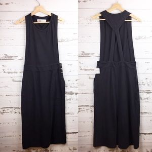 FREE PEOPLE FP BEACH Long Black Jumpsuit Dress NWT